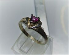 Natural earth-mined rhodalite garnet ring in sterling silver