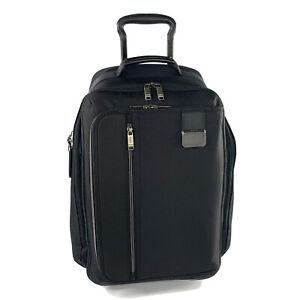 TUMI Merge Black Wheeled Convertible Backpack International Carryon Luggage