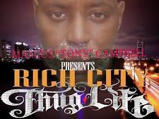 Rich City Thug-Life by Marcus Tony Campbell (2016, Paperback, Large Type)
