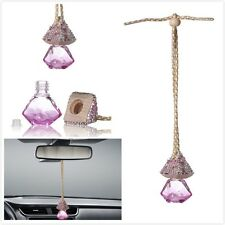 Pink Car Bling Accessories Mirror Hanging Diamond Crystal Decor for Girls Women