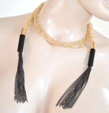 COLLAR mujer largo oro negro strass alambres sexy gargantilla ceremonia H20