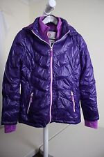 Free Country 100% Nylon Purple Faux Fur Lined & Filled Full Zip Coat Size - 16