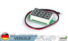 Mini Digital Voltmeter grün 3x1,4cm 2,6-30V für Arduino Prototyping Raspberry Pi