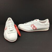 Bosco Sport Sneakers Shoes Size 13.5 White- Red Trim