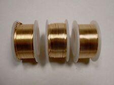 3 BOBINE DI COLOR ORO FILO DI RAME 0,4 mm 0,6 mm 0,8 mm-Craft Filo -