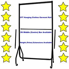5⭐3ft HEAVY DUTY GARMENT RAIL CLOTHES HOME STORAGE HANGING RACK MARKET DISPLAY