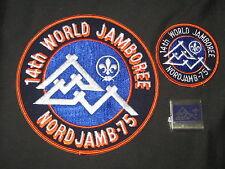 1975 World Jamboree Neckerchief, Patches and Souvenir Lot