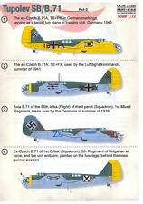 Print Scale Decals 1/72 TUPOLEV SB-2 Bomber Part 3 Foreign Versions