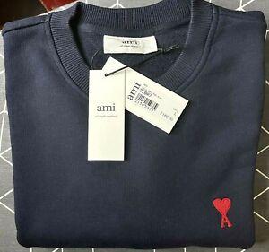 NWT AMI PARIS AMI De Coeur sweatshirt Navy - Size L