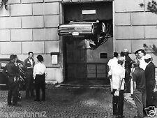 1964 Buick Electra crushed between floors of garage elevator 8 x 10 photograph