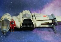 VINTAGE Star Wars COMPLETE B-WING FIGHTER + PILOT ACTION FIGURE KENNER WORKS!