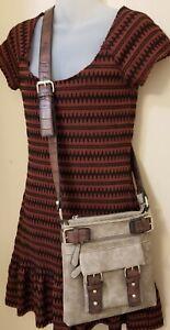 Women's DASEIN Crossbody Bags Classic Faux Leather Travel Shoulder Purse 10x10x1
