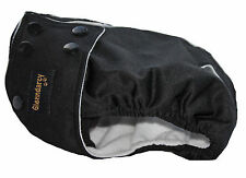 SIZE XL Female Dog Diaper / Nappy Pants -  Waterproof Fabric - Poppers  - Black
