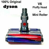 100% Genuine Dyson V6 Absolute/Animal Fluffy Soft Cleaner Brush Head+Mini Roller