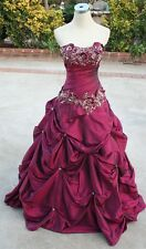 NWT Allure Bridal Q253 MERLOT Formal Prom Gown 8