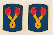 PAIR 1960'S VIETNAM WAR ERA DECALS U.S. ARMY 196TH INF BDE