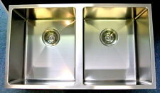 Contemporary Square Undermount Kitchen Double Sinks