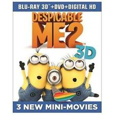 Despicable Me 2 (Blu-ray 3D + Blu-ray + DVD + Digital HD UltraViolet) (2013) NEW