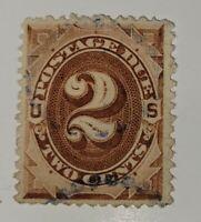 US Stamp #J2 - 2c Postage Due - SCV $25