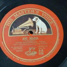 """78 RPM 12"""" John McCormack Ave Maria/Angels SERENATA"""