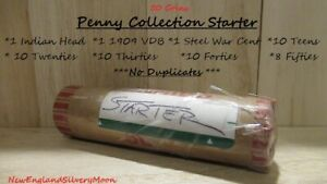 50 Penny Collection Starter-1909VDB + Indian Cent + Steel War Cent *NO DOUBLES*
