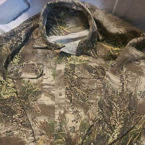 Cabelas Realtree Max-1 Camo Shirt Hunting  Long Sleeve Button Men Size 2XL