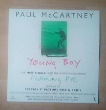 """PAUL McCARTNEY  -Promotional 12"""" x 12"""" (PaperFlat) YOUNG BOY(ideal for framing)"""
