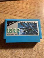 Japanese NES Nintendo Game 1985 1942 Capcom CAP-19