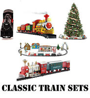 Classic Train Set Railway Electric Christmas Deluxe Large Engine Kids Toy Lights