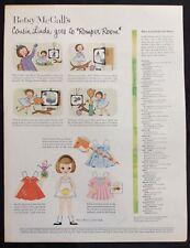 Vintage Betsy McCall Mag. Paper Dolls, Cousin Linda at Romper Room, Nov. 1958