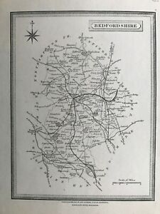1875 Antique Map; Berkshire & Bedfordshire by Teesdale / Heywood