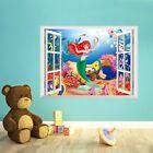 la Petite Sirène Autocollant Mural Cartoon Décalque Vinyle Art Chambre D'enfants