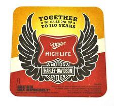 Harley Davidson Miller Beer 110 Years Bier Bierdeckel Untersetzer Coaster USA