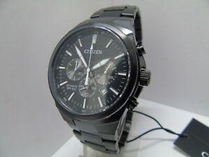 Citizen Quartz an8175-55e Herren Schwarz Ionen Chronograph ** NEU ** UVP £ 199