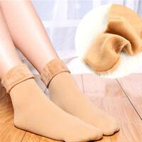 Women  Winter Warm Thicken Socks Wool Home Snow Boots Cotton Cozy Socks PipWTU*M