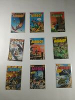 Lot Of 9 Eclipse Comics Airboy Comic Books Steelfox Contras