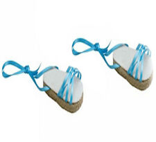 Blue Espadrille Sandals Fits 18 inch American Girl Dolls
