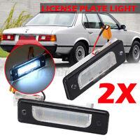 2x LED Number License Plate Light Rear For BMW E30 E28 E23 E32 3 5 6 7