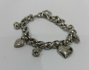Stainless Steel  Bracelet With 7 Charms