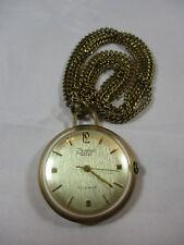 Taschenuhr mit Kette, 50 – 60er Jahre, Fa. Anker – Isoma, läuft, Metall vergolde