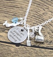 The Little Mermaid Disney Inspired Necklace Pendant Gift Princess Christmas Gift