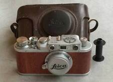 Leica II D Kriegsmarine copy chrome-wood in leather case (FED-Zorki copy)