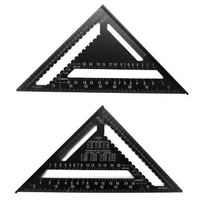"""12"""" Aluminum Alloy Speed Square Quick Roofing Rafter Triangle Ruler Guide"""