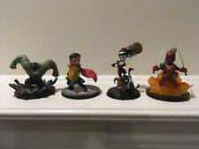 Loot Crate Q-Fig QMX Lot - Dr. Strange, Hulk, Deadpool & Harley Loose No Boxes