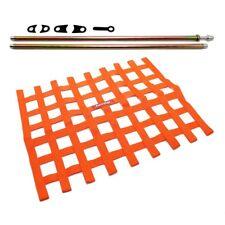 RaceQuip Orange Window Net and Mounting Install Kit Non SFI Circle Track Racing