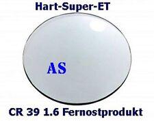 2 Brillengläser 1.6 A S / Kunststoff Doppel-Super-Hart-ET