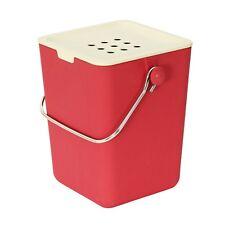 Nubu Red Bamboo Fibre Compost Caddy / Compost Bin / Kitchen Caddy