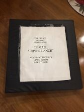 """The Office Production-Used Script Supervisor Binder """"E-mail Surveillance"""" Prop"""