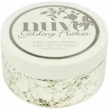 Craft Gilding Flakes 6.8Oz - Silver Bullion - Nuvo - Brand New