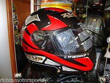 BRAND NEW ZEUS MOTORCYCLE HELMET - ZS-2100 - Size MEDIUM - Matte Black/Red